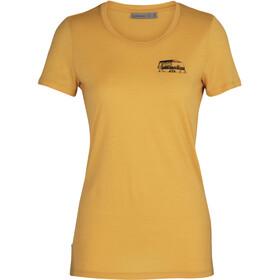 Icebreaker Tech Lite SS Low Crew-skjorte Det gode liv Damer, gul